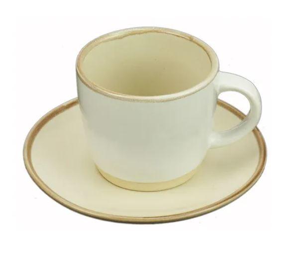 Jogo 4 Xícaras Porcelana Para Café Com Pires Good Vibes 115ml 27840 - Rojemac