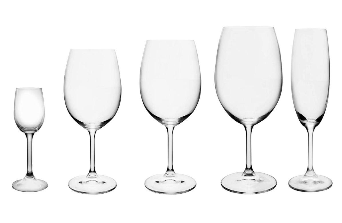 Jogo de 6 Taças 250ml Cristal Titânio Champagne Bohemia Crystalite 5504 - Lyor
