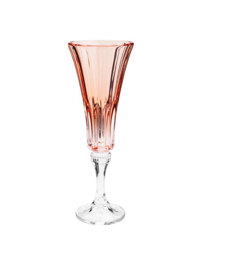 Jogo de 6 Taças de Cristal Ecológico Wellington Rose Quartz 180ml 35235 - Rojemac