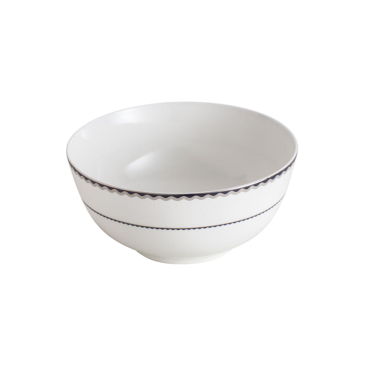 Jogo de Tigelas em Porcelana Wolff Blue Silver Alto Relevo 25085 - 6 Peças