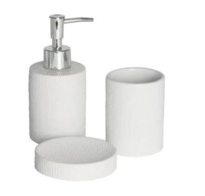 Jogo para Banheiro 3 Peças Lille Branco 10032 - Lyor