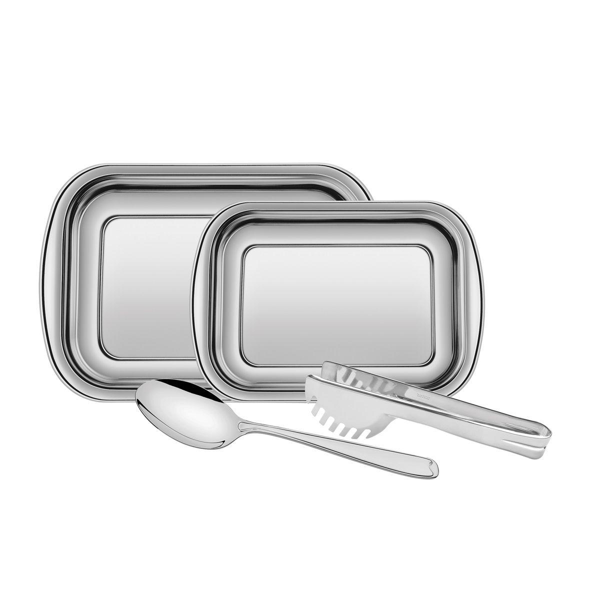 Kit para Assar e Servir Tramontina Cosmos em Aço Inox 64310250 - 4 Peças
