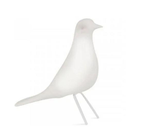 Pássaro Decorativo de Cerâmica Branco - 4178