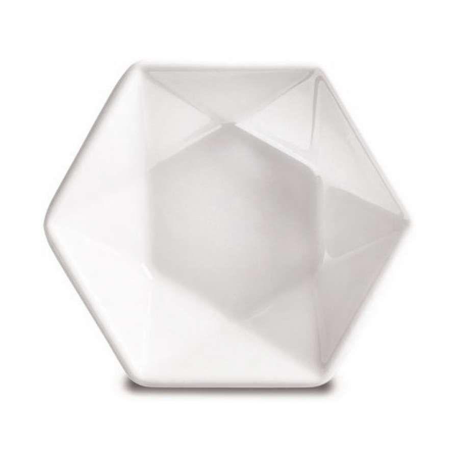 Petisqueira Corona Hexa Actualite 7x7cm em Porcelana 8104120136