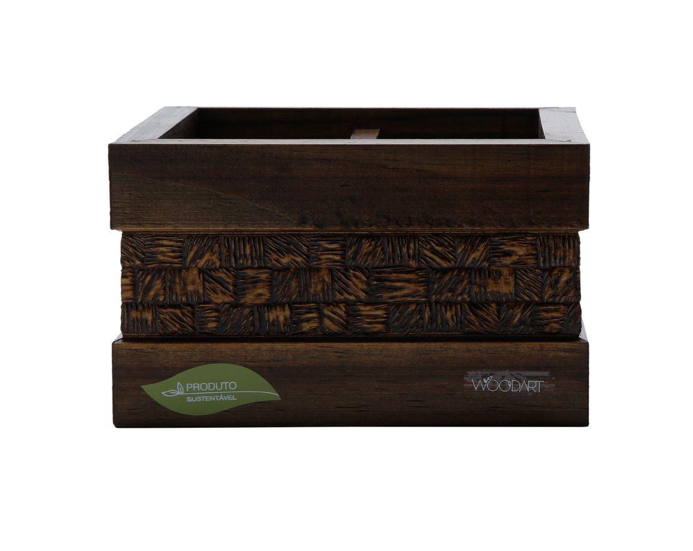 Porta Talher De Madeira Com Espelho Coquinho Woodart 11806