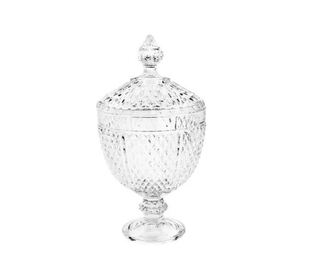 Potiche Decorativo Com Pé De Cristal 7057 - Lyor
