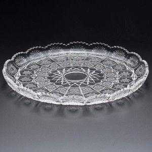 Prato de Cristal de Chumbo Para Bolo Starry 30Cm 25550 Rojemac.