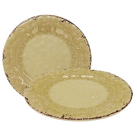 Prato de Jantar Mimo Style Linha Antique em Melamina 27cm MP27H