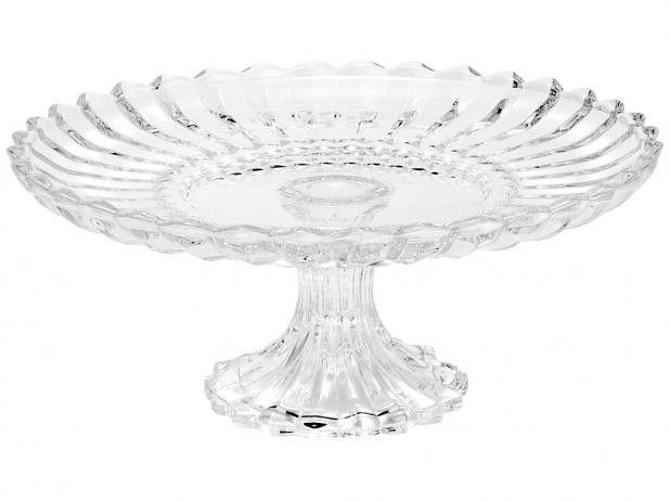 Prato para Bolo de Cristal Com Pé Geneva 25529 Rojemac.