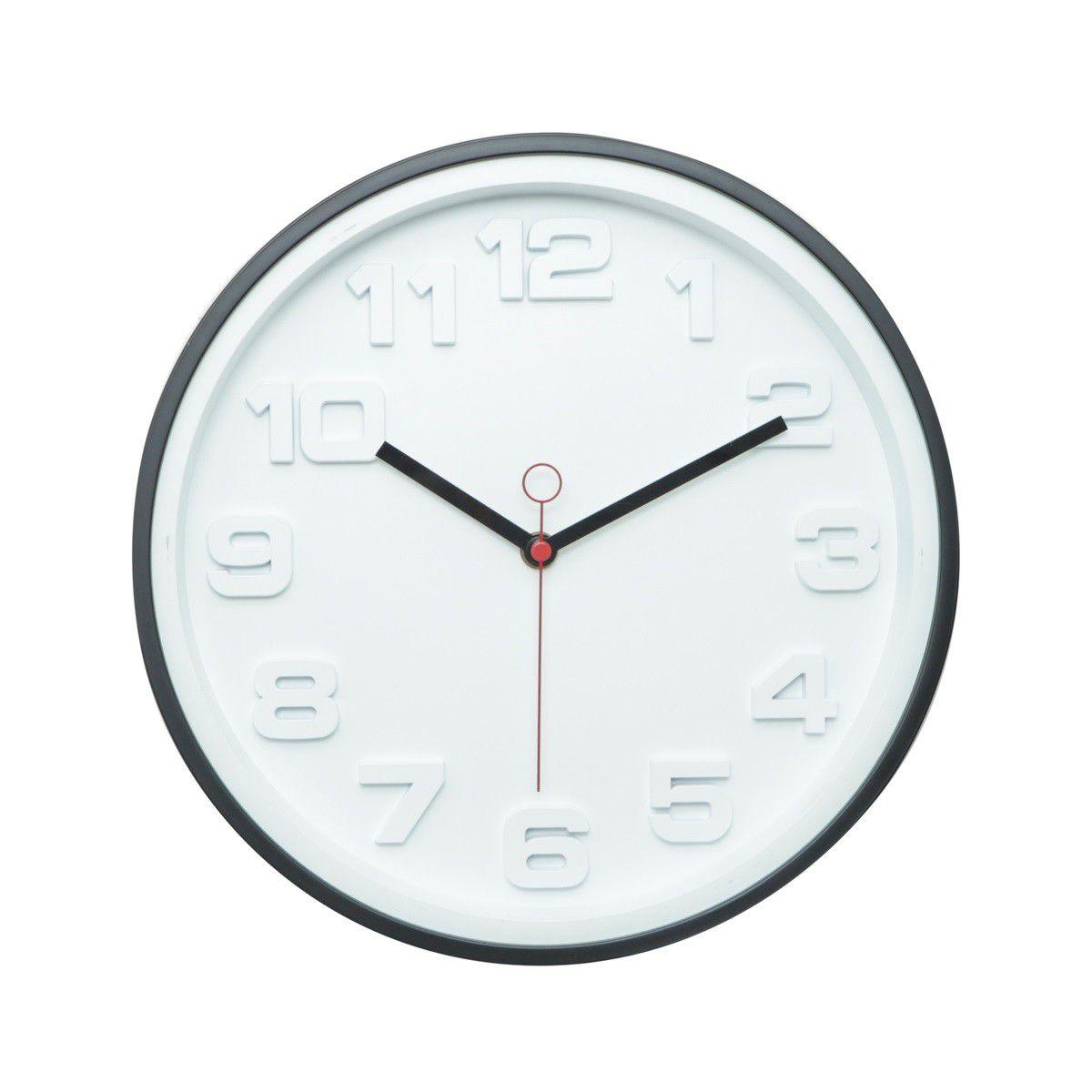Relógio de Parede Urban Home Thick Numbers em Plástico 42271