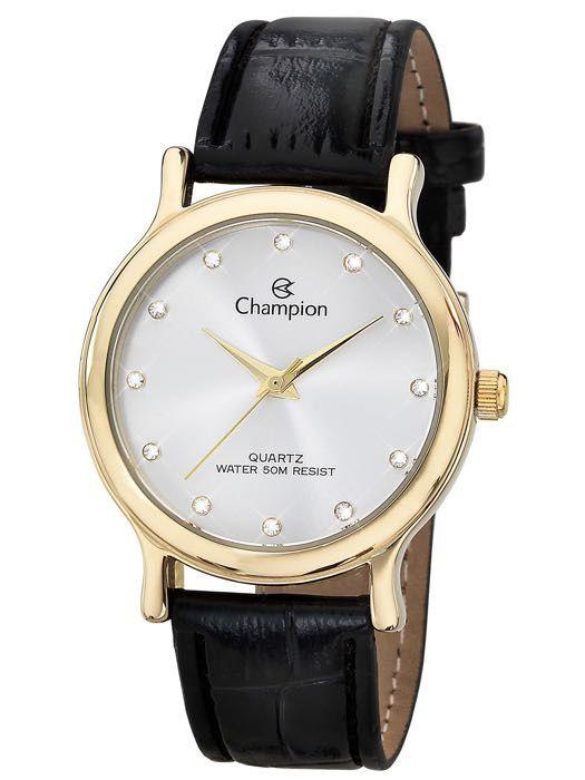 Relógio Feminino Champion Analogico Dourado CH22733B