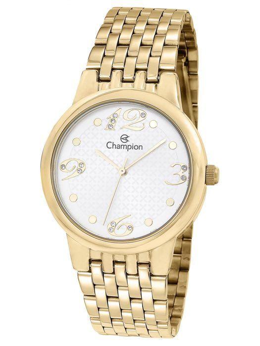 Relógio Feminino Champion Analógico Dourado CN24155H