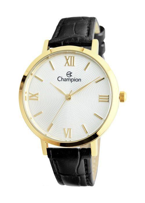 Relógio Feminino Champion Analogico Dourado CN24182B