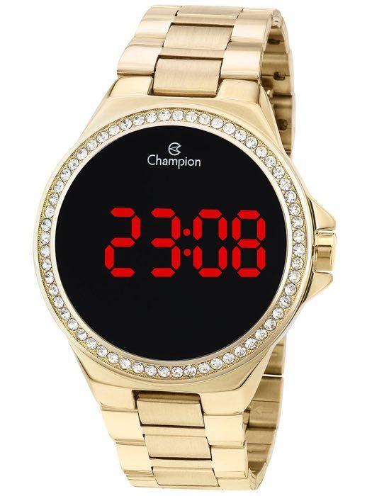 Relógio Feminino Champion Digital Dourado CH40151H