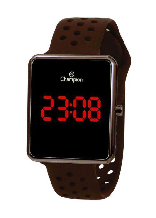 Relógio Feminino Champion Digital Marrom CH40081M