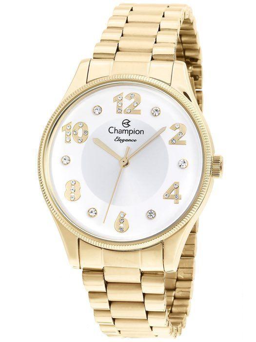 Relógio Feminino Champion Elegance Dourado CN24002H