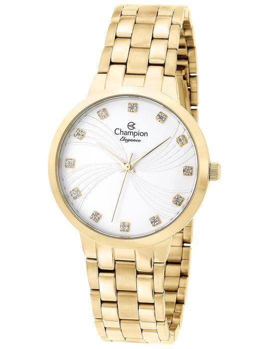 Relógio Feminino Champion Elegance Dourado CN24084H