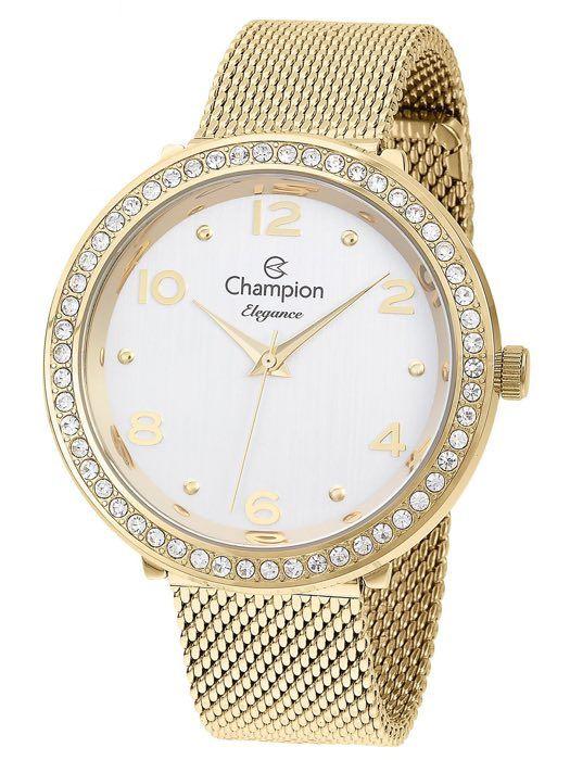Relógio Feminino Champion Elegance Dourado CN24173H