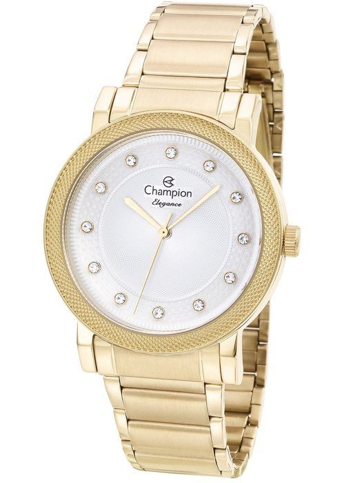 Relógio Feminino Champion Elegance Dourado CN25707H