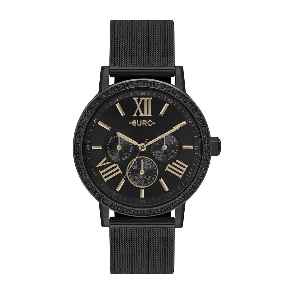 Relógio Feminino Euro Analógico Preto EU6P29AHN/4P