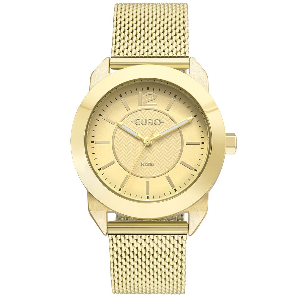Relógio Feminino Euro Geometric Power EU2036YLS/4D
