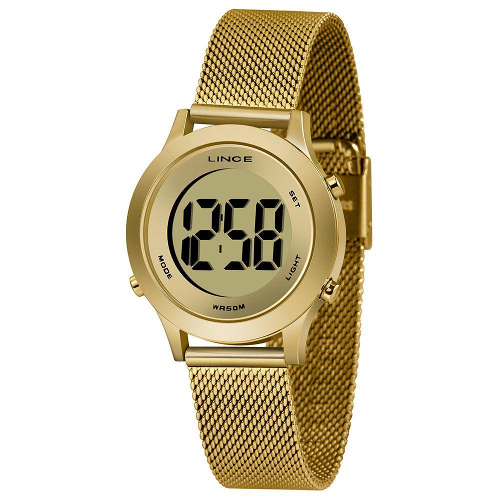 Relógio Feminino Lince Digital Dourado SDPH109L-CXKX