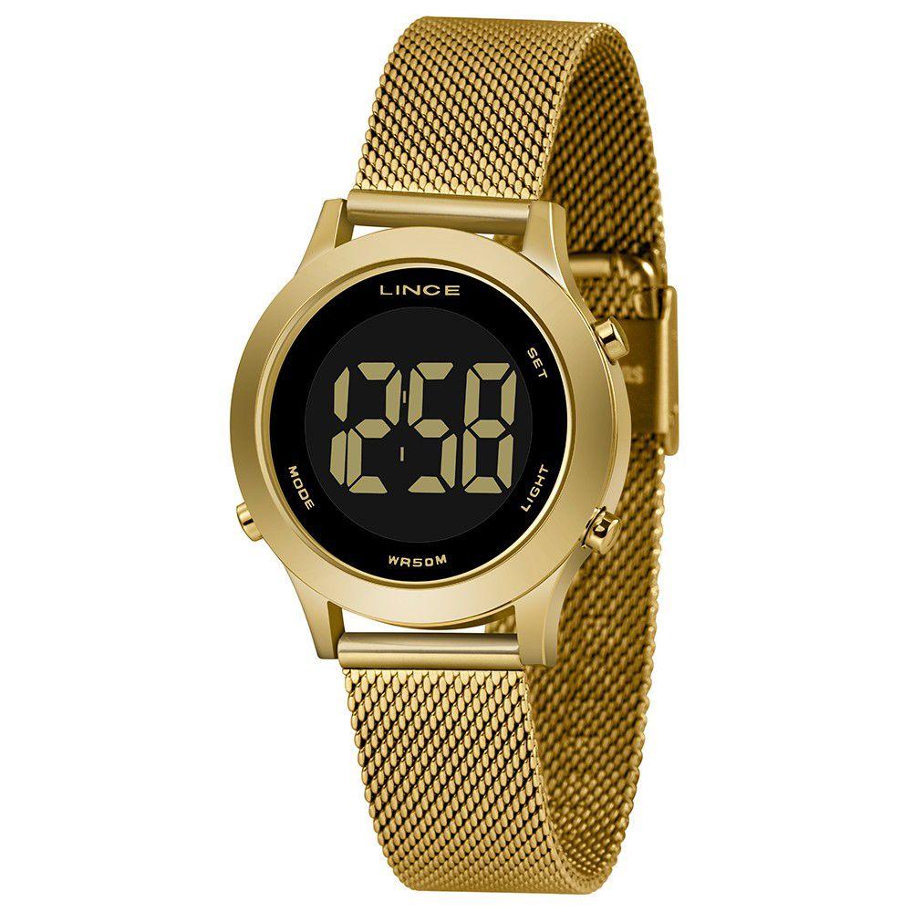 Relógio Feminino Lince Digital Dourado SDPH110L-PXKX