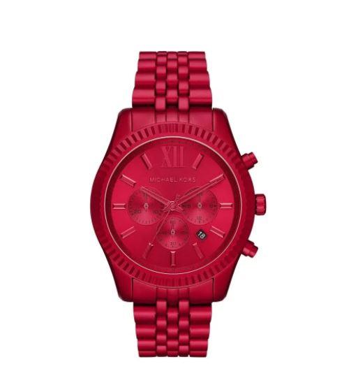 Relógio Feminino Michael Kors Lexington  Vermelho MK8814/1RN