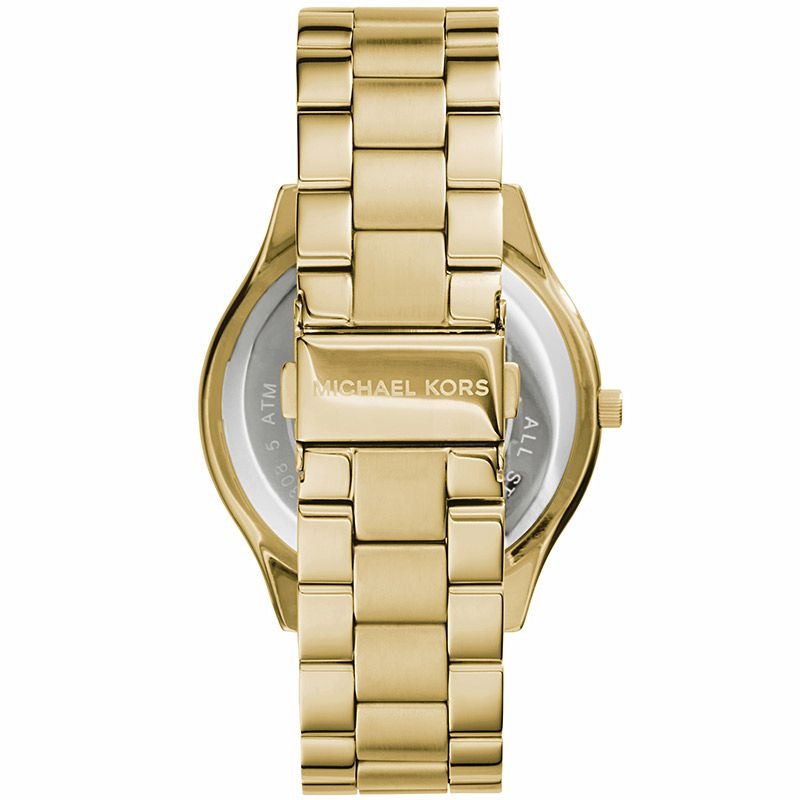 Relógio Feminino Michael Kors Slim Runway Dourado MK3179/4DN
