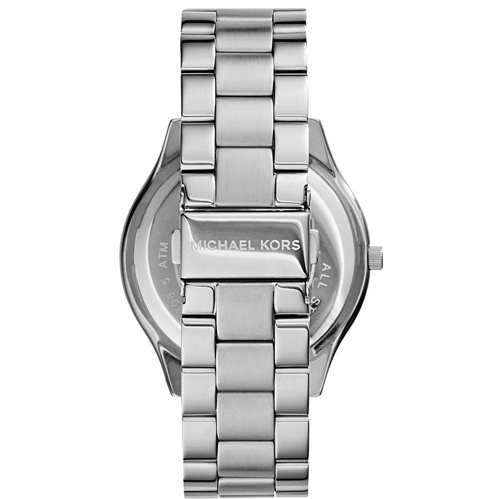 Relógio Feminino Michael Kors Slim Runway Prata MK3178/1KN