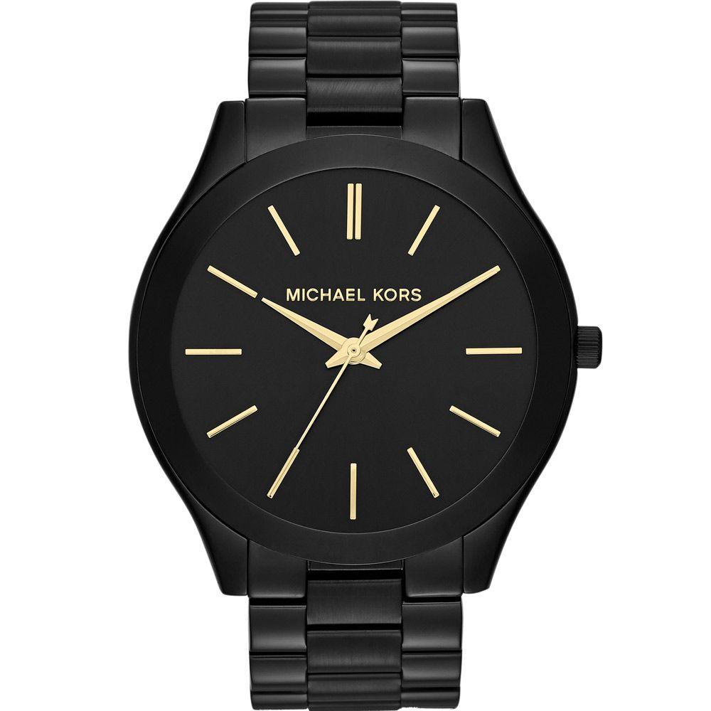 Relógio Feminino Michael Kors Slim Runway Preto MK3221/4PN