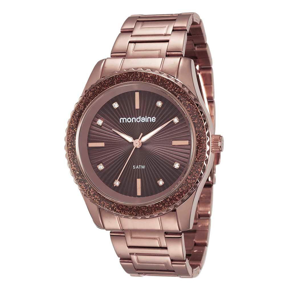 Relógio Feminino Mondaine Glitter e Cristais 76568LPMVME6