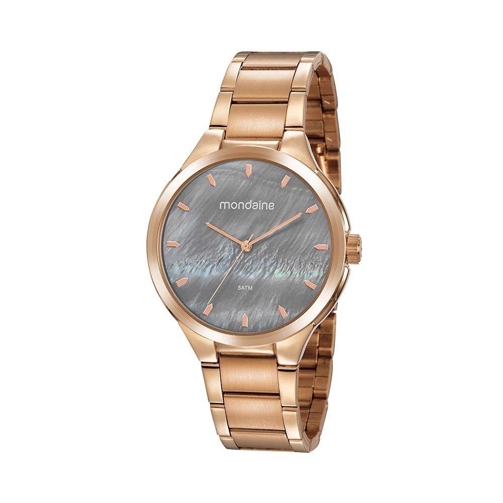 Relógio Feminino Mondaine Madrepérola Rosê 53835LPMVRE2