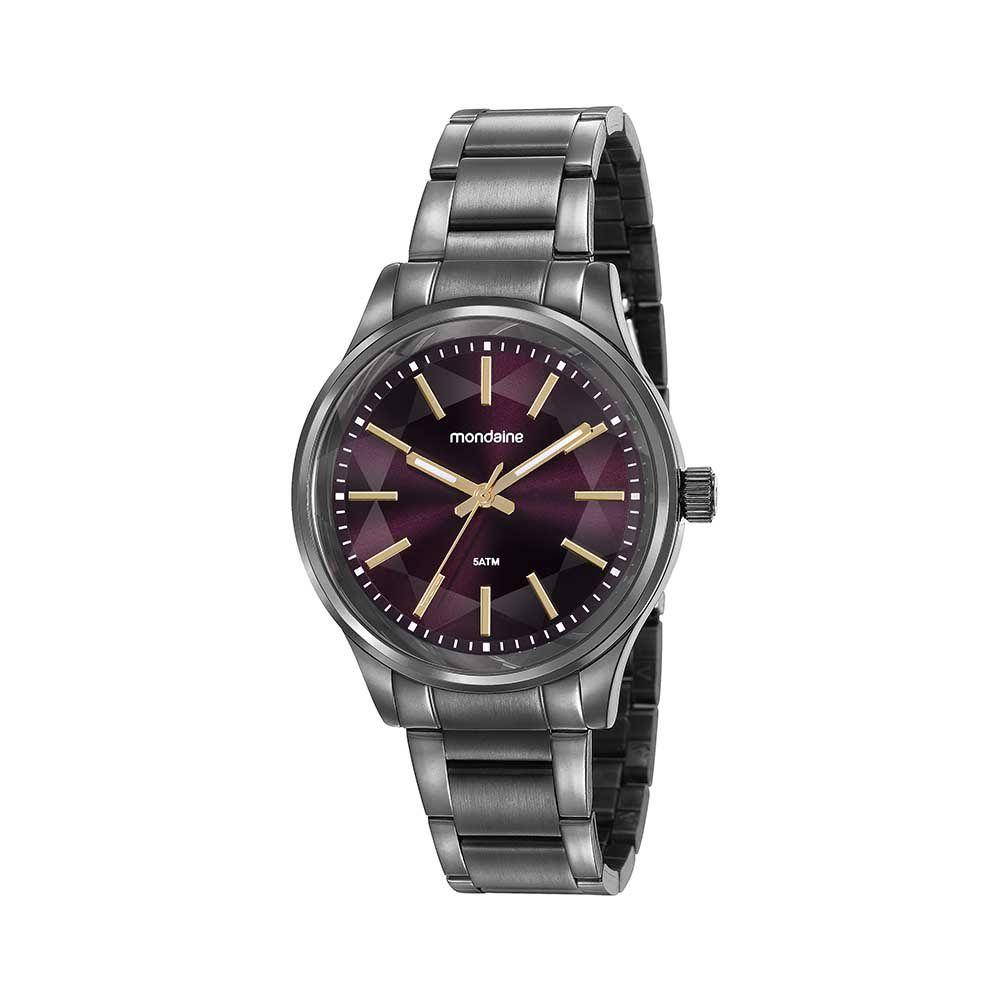 Relógio Feminino Mondaine Vidro Facetado Cinza 99415LPMVSE5