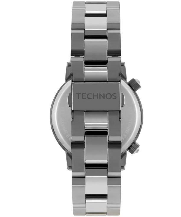 Relógio Feminino Technos Analógico Grafite Kit c/ Bracelete  2039BW/K4C