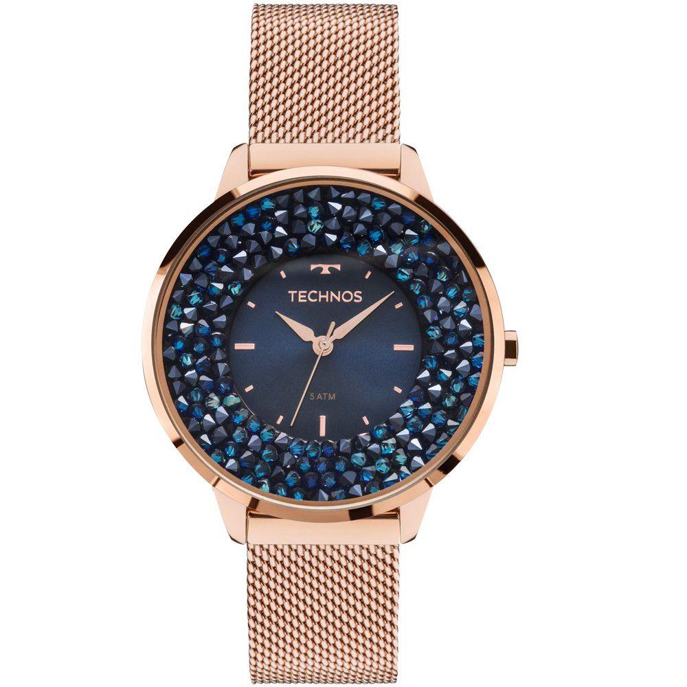 Relógio Feminino Technos Elegance Crystal 2035MLE/4A