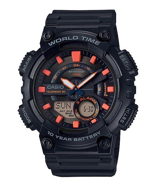 Relógio Masculino Casio Standard Preto AEQ-110W-1A2VDF