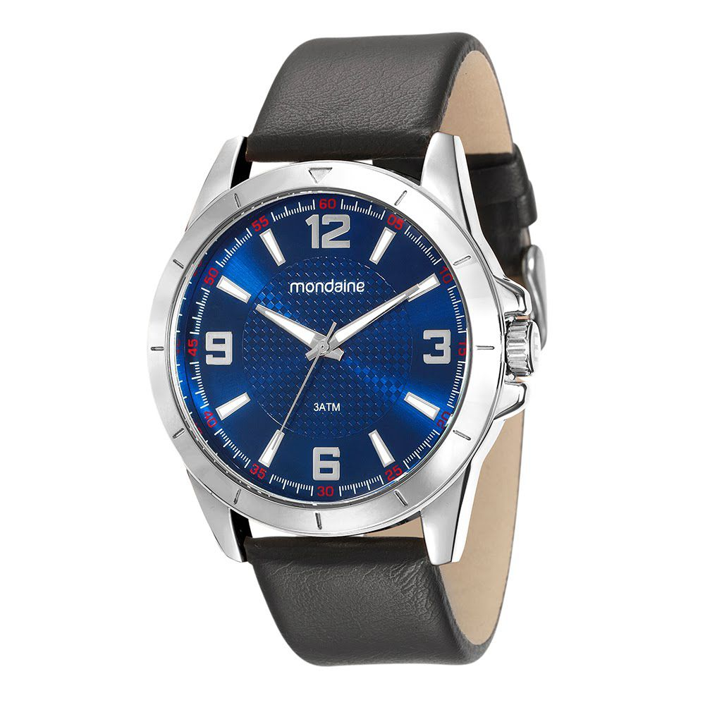 Relógio Masculino Mondaine Visor Azul Texturizado 76657G0MVNH1