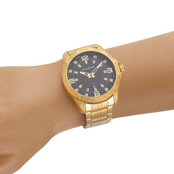 Relógio Masculino Mondaine Visor Texturizado 53705GPMVDE1