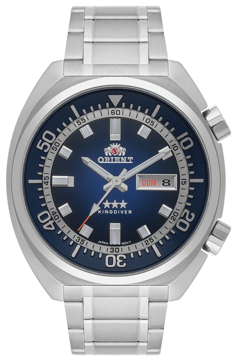 Relógio Masculino Orient Kingdiver Prata F49SS001-D1SX
