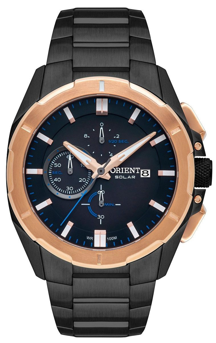 Relógio Masculino Orient Solar Rosê MTSSC031-P1PX