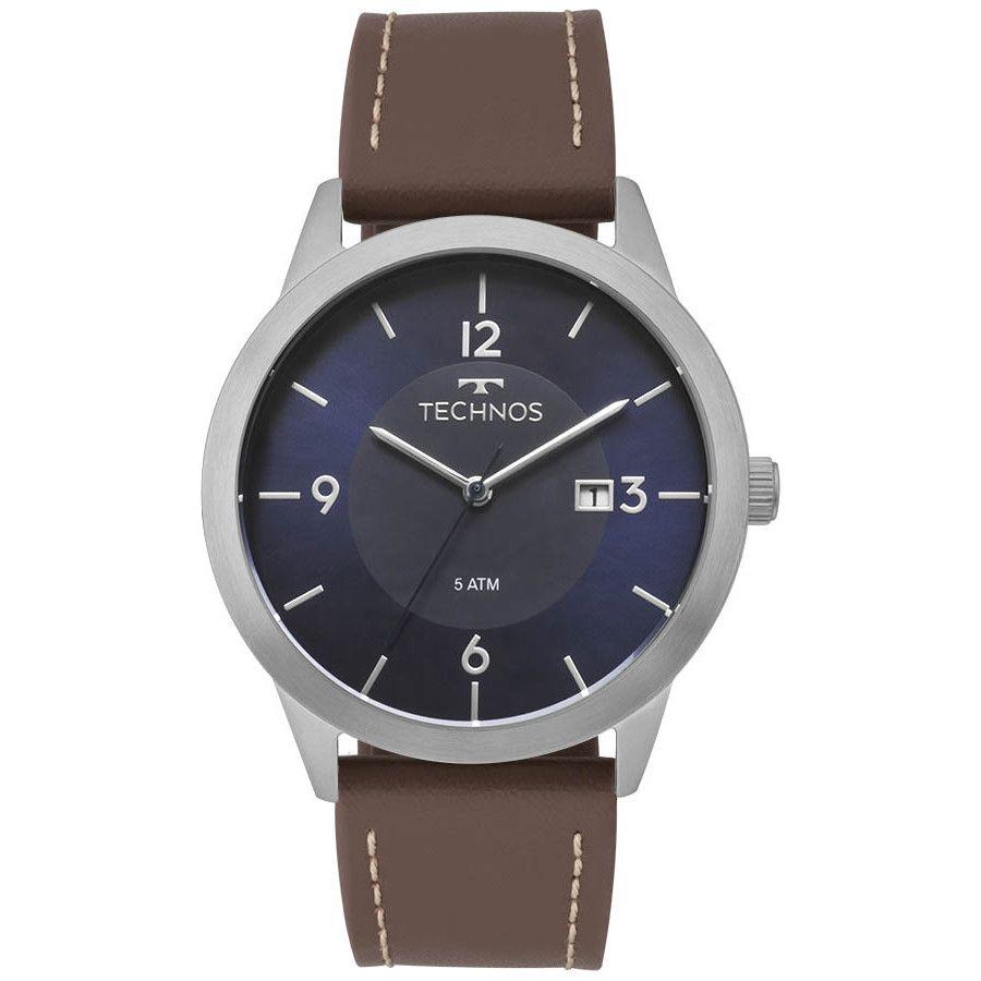 Relógio Masculino Technos Classic Steel Prata 2115MOG/0A
