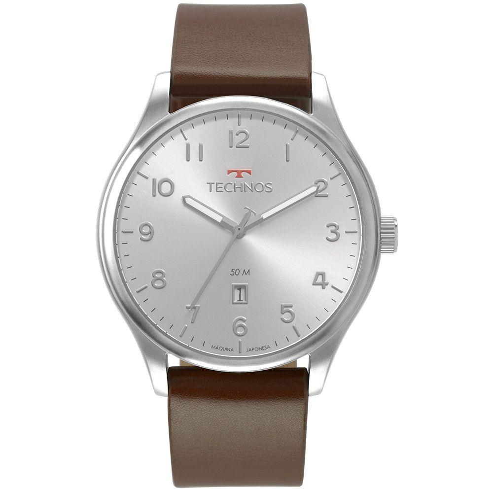 Relógio Masculino Technos Classic Steel Prata 2115MVA/0K