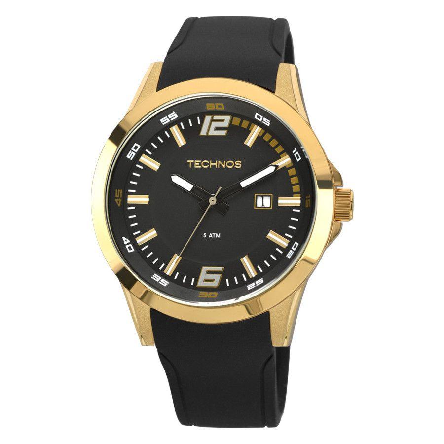 Relógio Masculino Technos Racer Dourado 2115KPU/8P