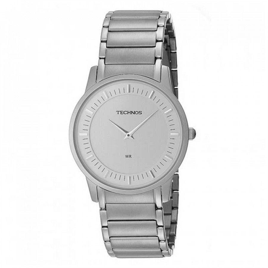 Relógio Masculino Technos Slim Prata GL20AH/1K