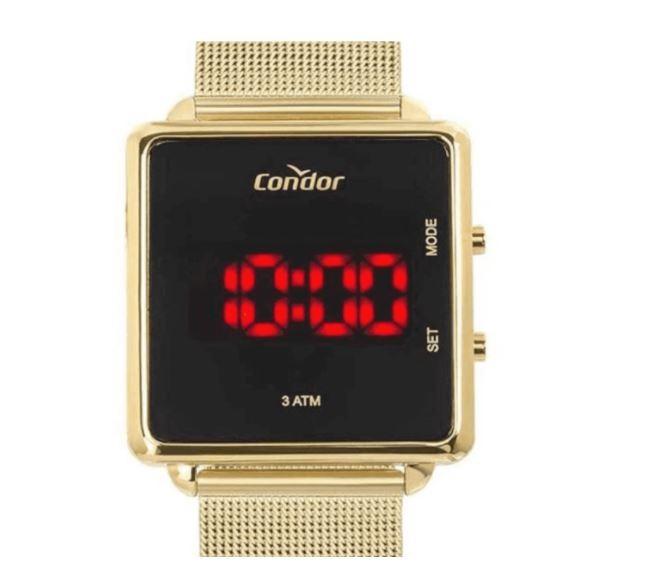 Relógio Unisex Condor Digital Dourado COJHS31BAA/4X