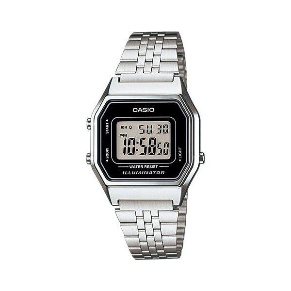 Relógio Feminino Casio Vintage Prata LA680WA-1DF
