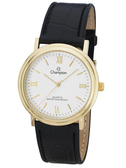Relógio Unissex Champion Analogico Dourado CH22279M
