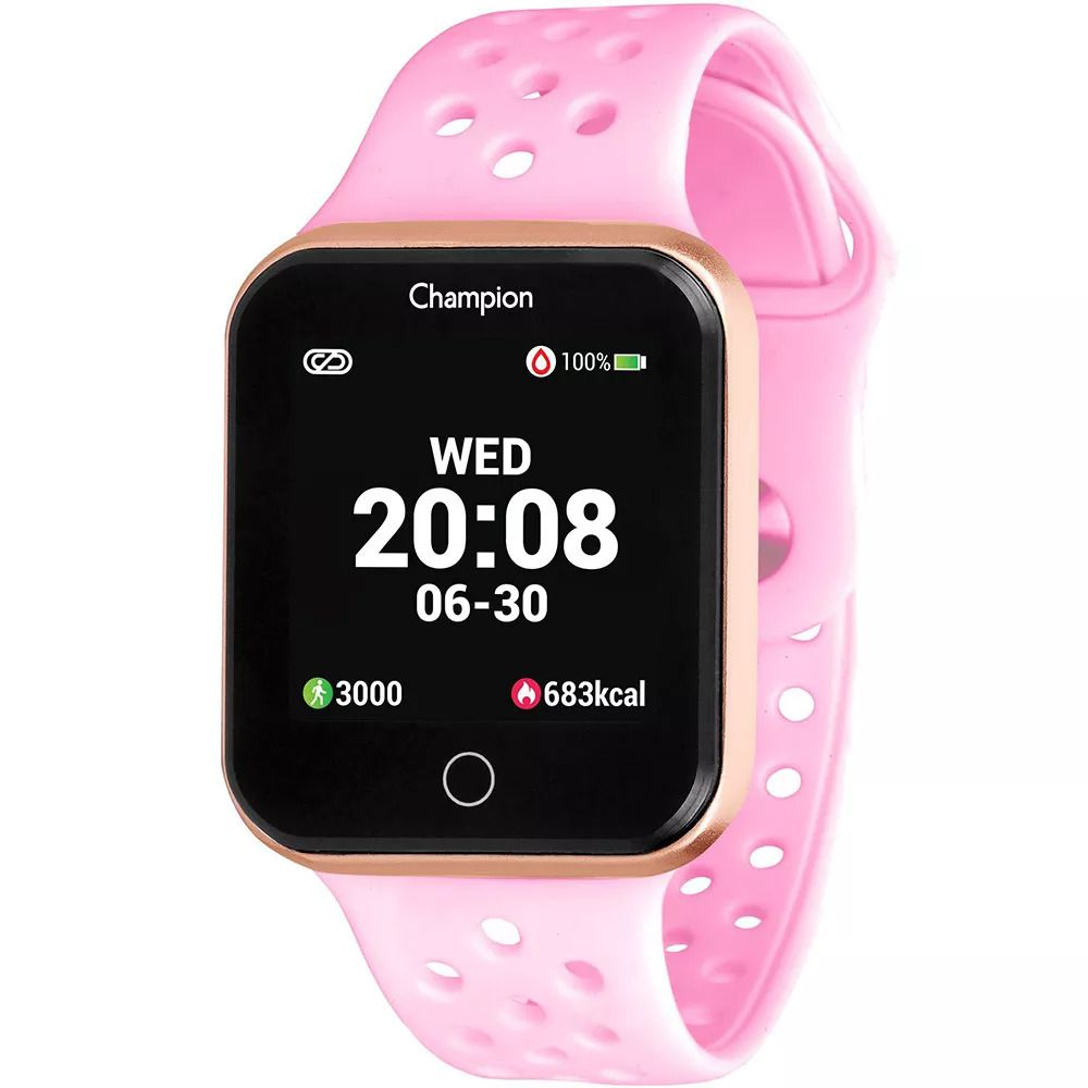 Relógio Unissex Champion Smartwatch Rosê CH50006R