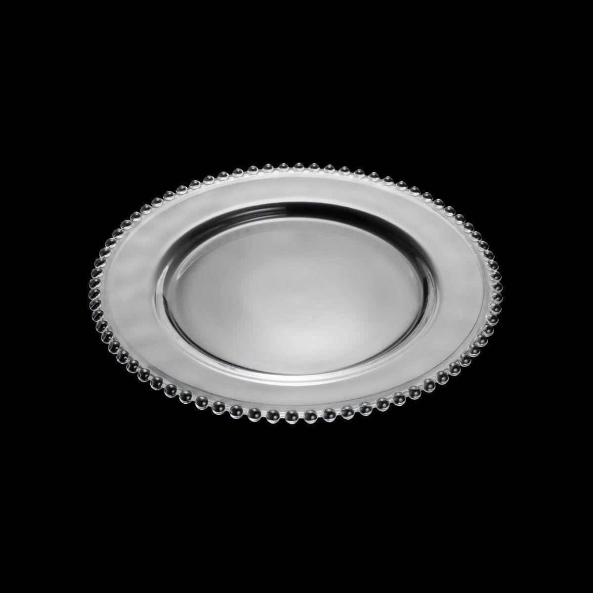 Sousplat Wolff Pearl 31,5cm em Cristal Transparente 2670